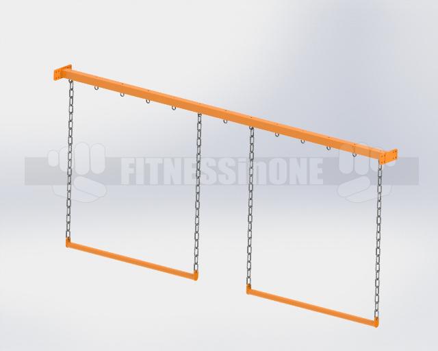 Fitnessinone OCR, tory przeszkód, belka podporowa drążki poziome – support beam horizontal chain bars (2)