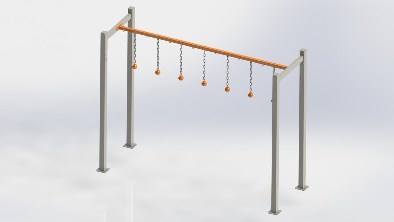 OCR Kula FITNESSinONE belka podporowa wraz z kulami – support beam with ball grips