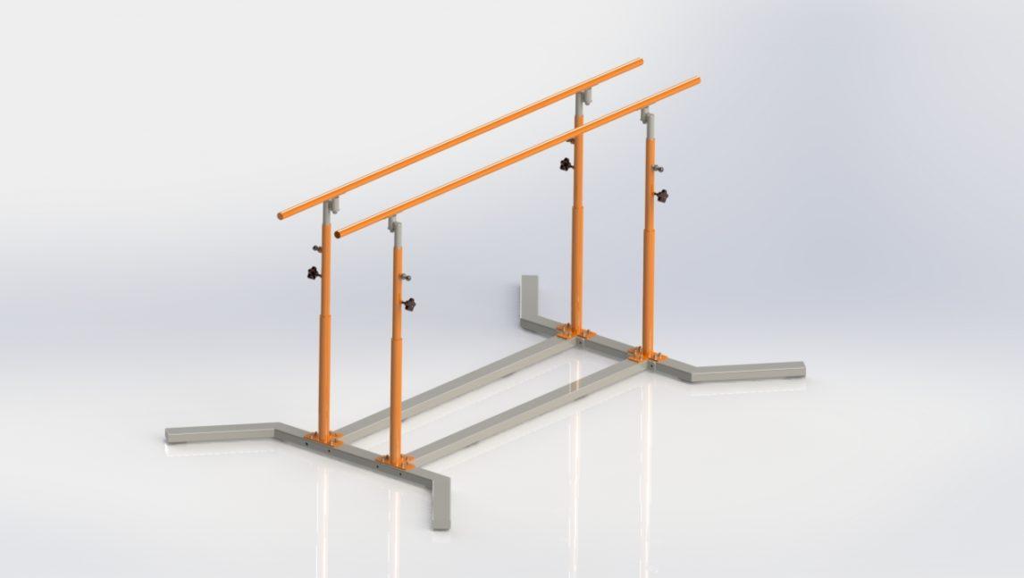 Poręcze gimnastyczne równoległe do zastosowań amatorskich jak i profesjonalnych.