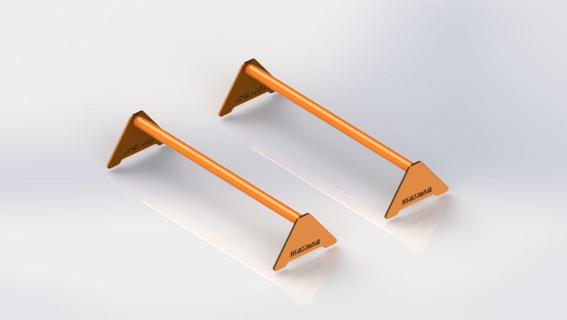 NIskie paraletki o długości 90cm przeznaczone do rozwijania techniki stania na rękach.
